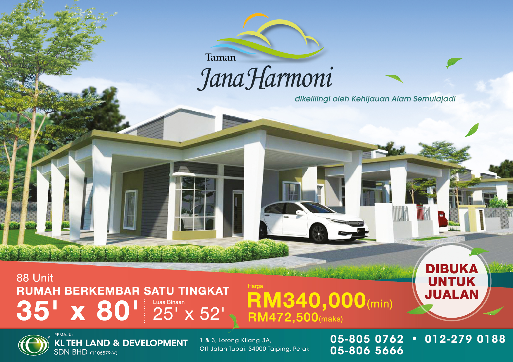 Taman Jana Harmoni (Semi Detached House) <font>at Kamunting, Perak</font>